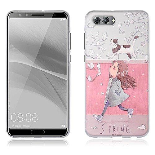 Funda Huawei nova 2s, Carcasa Protectora de Silicona de Calidad Superior -FUBAODA- Decorada con una Simpátic Cebra de Dibujos Animados, Buen Diseño, Elegante y Agradable al Tacto, Resistente a Golpes, pic:2
