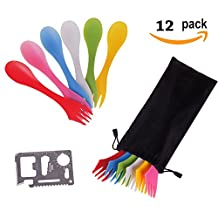12 Pack Sporks,Durable & B...