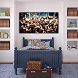 WWE WRESTLERS PRINT On CANVAS Home Wall Decor Art Raw Cena Picture P087, Large