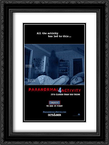 Paranormal Activity 4 18x24 Double Matted Black Ornate Framed Movie Poster Art Print by ArtDirect