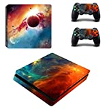 UUShop Vinyl Skin Sticker Decal Cover for Sony PlayStation 4 Slim PS4 Console Lighting Galaxy Review