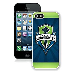 iPhone 5 5S Case ,Unique And Fashionable Designed Case With Seattle Sounders FC 19 White For iPhone 5 5S Phone Case
