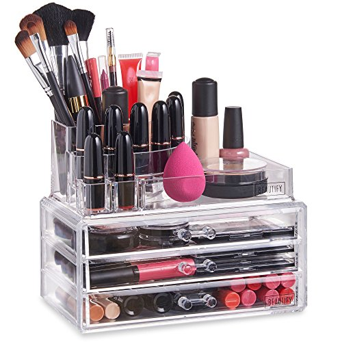 Beautify Acrylic Cosmetic Organizer Sections