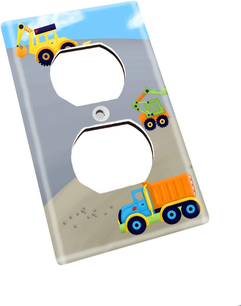 Bright Construction Kids Bedroom Baby Nursery Single Light Switch Cover LS0012 Single Outlet