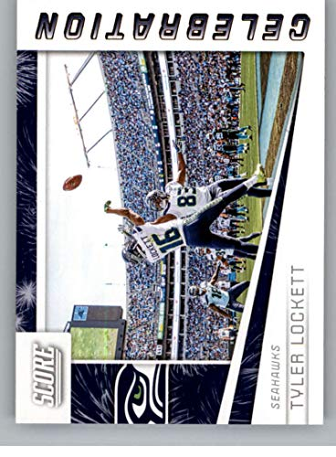 (2019 Score NFL Celebration #3 Tyler Lockett Seattle Seahawks Official Football Card made by Panini)