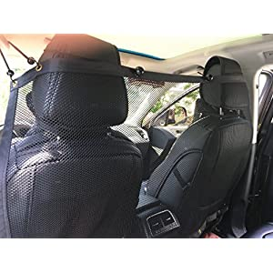 "BINGPET Vehicle Pet Barrier Backseat Mesh Dog Car Divider Net 50""X 29.5"" 45"