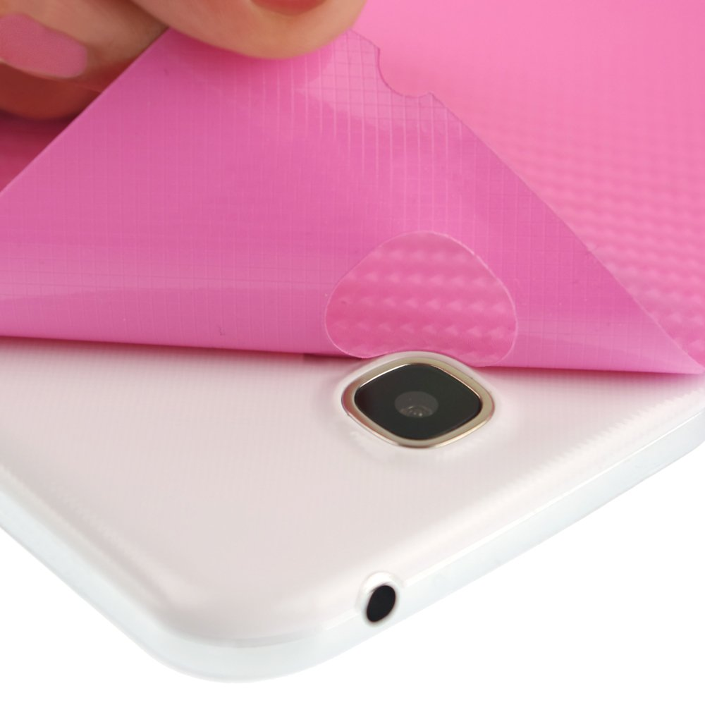 Skinomi Carbon Fiber Series Film Protector with TechSkin Screen Protector for Acer Chromebook 11.6 C720 - Pink by Skinomi (Image #4)