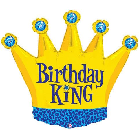 Costumes 205059 Birthday King Foil -