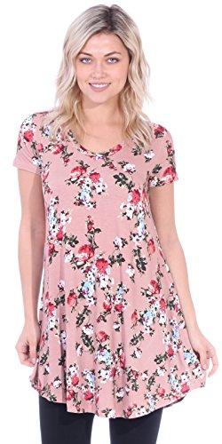 Popana Women's Tunic Tops for Leggings Short Sleeve Summer Shirt Made in USA 3X ()