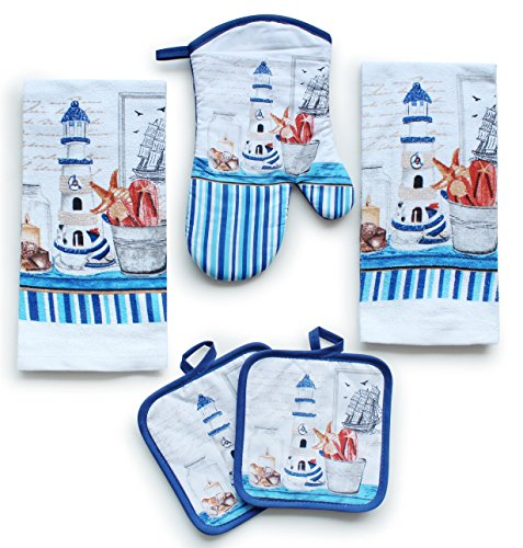 Kitchen Decor Linen Set Includes 2 Dish Towels,