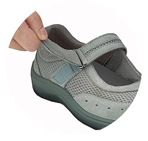 Mary Diabetic Chattanooga Jane Orthofeet Shoes Gray Comfortable Arthritis Womens Orthopedic wqXpx14nU