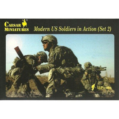 - Caesar Miniatures H094 Modern US Soldiers in Action Set #2 1/72 Scale Figures