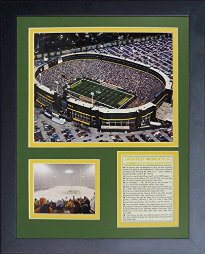 Framed Lambeau Field Green - Legends Never Die Green Bay Packers Old Lambeau Field Framed Photo Collage, 11x14-Inch