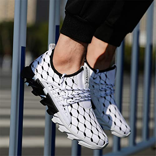 Man einfache Classic Qualität Wanderschuhe männlich Laufschuhe Weiß Gute Bequeme Sneakers 1xZwqFZnS