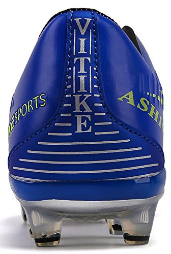de pour AG Top Enfant Football Mixte Foot Garçon High ,Homme 1 Chaussures Football de de ,Homme bleu Crampons Compétition Chaussures Chaussures Spike 0w8768