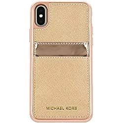 5f2a845e93f24e Michael Kors Saffiano Leather Pocket for Apple iPhone X - Rose gold