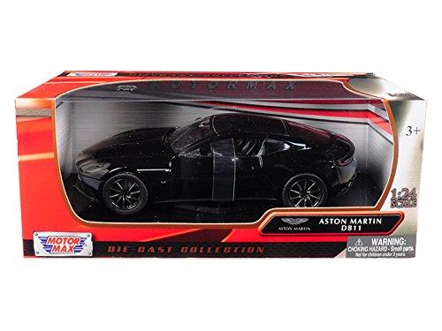 - Aston Martin DB11 Black 1/24 Diecast Model Car by Motormax 79345BK