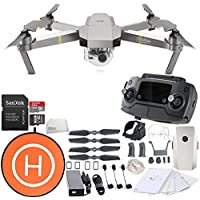 DJI Mavic Pro Platinum Collapsible Quadcopter Starters Landing Pad Bundle