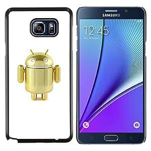 Eason Shop / Premium SLIM PC / Aliminium Casa Carcasa Funda Case Bandera Cover - Robot Golden Cute Air Toy - For Samsung Galaxy Note 5