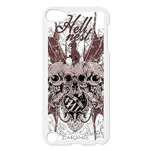 Ipod Touch 5 Skull Phone Back Case DIY Art Print Design Hard Shell Protection DF080844