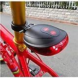 Schrodinger15 10024 5 LED+2 Laser Cycling Bike Bicycle Flashing Rear Tail Light