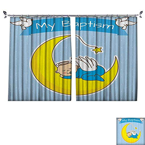 DESPKON Decoration Polyester Material Baby Sleeping The Boy Baptism Reminder Fellowship LIEF Gathering for Children's Room W63 x L72 (Lief Store)