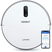 ECOVACS DEEBOT 710 Smart Robotic Vacuum Cleaner Smart Navi 2,0 for Scanning and Mapping Home, Compatible with Alexa, Ideal for Pet Hair, Carpets, Hard Floor Surfaces, With Wi-Fi Connectivity
