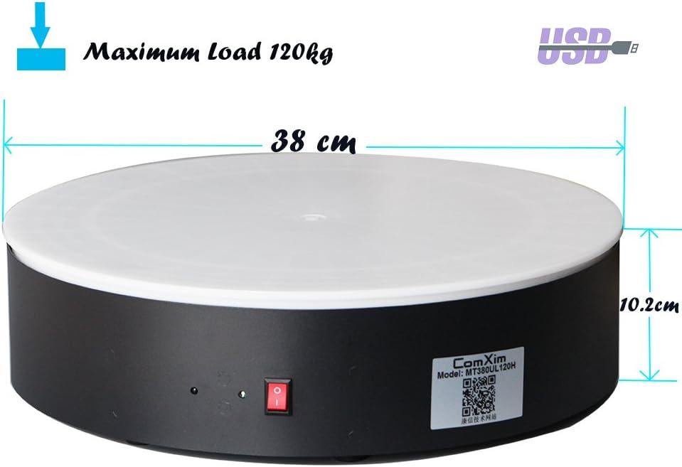 360 grado giratorio eléctrico para fotografía, con interfaz USB ...