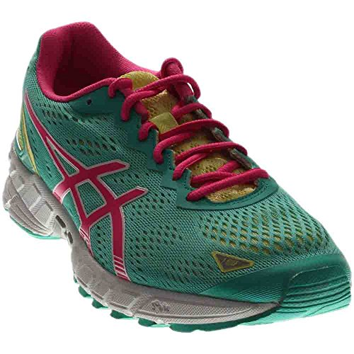 Price comparison product image ASICS Women's Gel-DS Trainer 19 Running Shoe, Emerald / Hot Pink / Sunny Lime, 7 M US