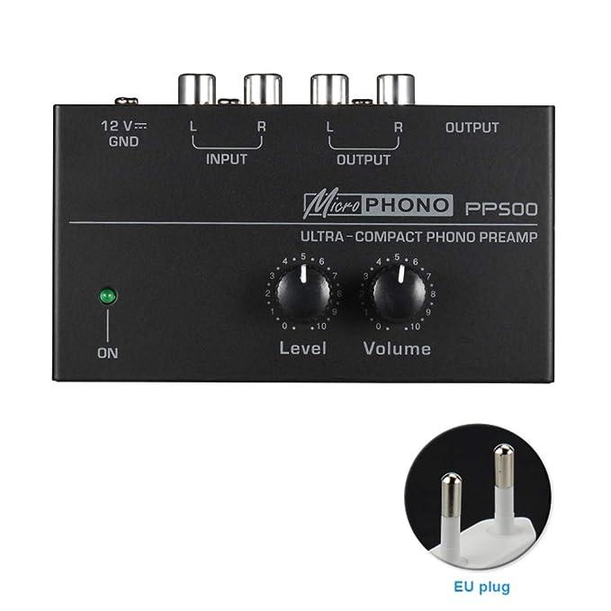 Lumpur Preamplificador PP500 Phono Preamp Audio con Nivel Interfaz ...