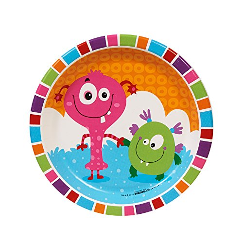 BirthdayExpress Aliens and Monsters Party Supplies - Dessert Plates (8)