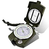 DLAND Military Lensatic Sighting Compass Waterproof with Inclinometer for Camping, Hiking and other Outdoor Activities.( Army Green )