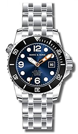 MARC & SONS Professional Automatik Taucheruhr - Mechanical Diver Watch - MSD-034