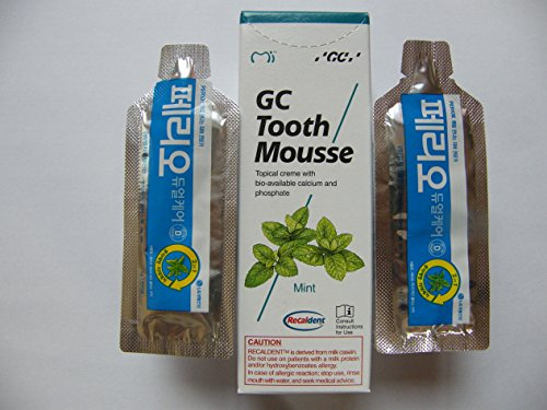 GC Tooth ( Mint Flavor ) Paste 40gr+4gr LG tooth paste mousse 2pcs