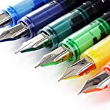 Thornton's Office Supplies Disposable Fountain Pens, Medium Point, Assorted Colors, Pack Of 12 (TOS-DFPAST12M)