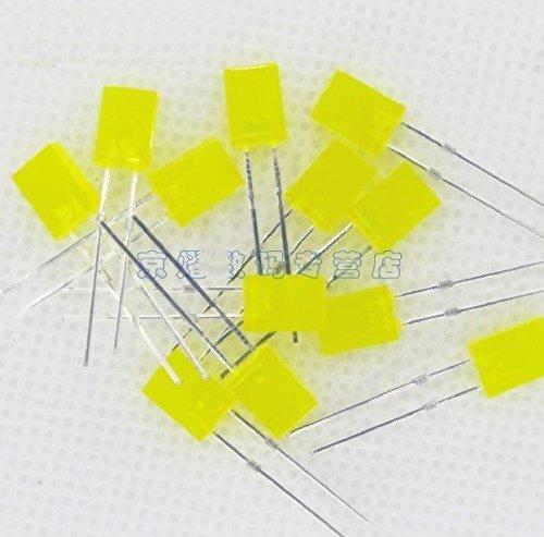 500 PCS 2x5x7mm 2*5*7MM Rectangle LED Yellow Colour Yellow Light Emitting Diode