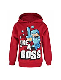 Minecraft Childrens/Boys Official Like A Boss Pullover Hoodie