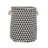 VOIMAKAS Collapsible Laundry Basket, Ramie Cotton