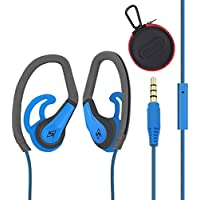 FIRSTEC Workout Earphones Sweatproof Sport In Ear Bass Headphones Stereo Sound for Most Audio Device with In-line Microphone Control and 3.5mm gold plated jack Running Gym Exercise for iphone Android