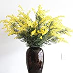 Htmeing-4pcs-Mimosa-Artificial-Silk-Flowers-Fake-Plants-Branches-Spray-Pudica-Acacia-Bouquet-Home-Wedding-Fall-Decoration-Yellow