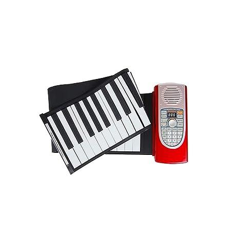 LIUFS-El teclado Hand Roll Piano 61 Teclado Portátil Recargable Con Un Teclado MIDI Grueso