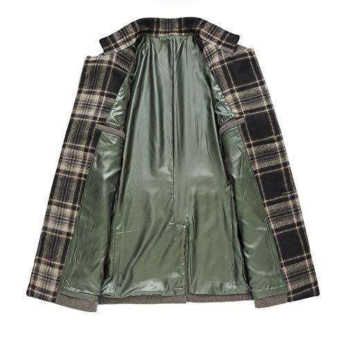 Lana Di Color Go Uomo Da In Maniche Khaki Shopping A Cappotto Lunghe Easy D'inverno Casual wqtIxI