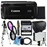 Canon VIXIA HF R700 with Camcorder Case, 32GB SD Card, Full Size Pro Tripod, Filter Kit, LED Light, HDMI Cable, Tripod, Cleaning Cloth & More
