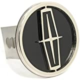 """Lincoln Black Chrome Trailer 2"""" Hitch Plug Cover Cap Stainless Steel"""
