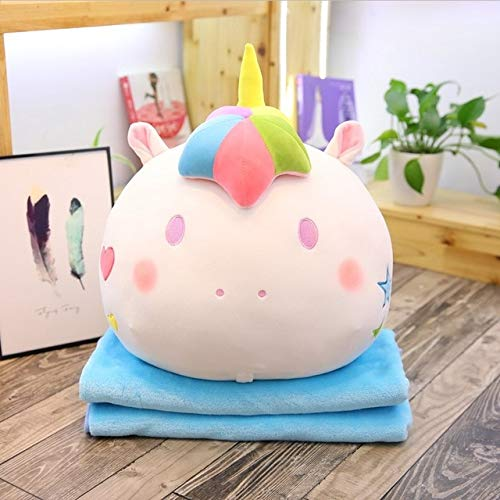 EXTOY Colorful Stuffed Unicorn 2 in 1 Pillow with Blanket Inside, Soft Plush Rainbow Unicorn Toys for Children Teen Must Haves Friendship Gifts Favourite Movie Superhero Cupcake Toppers by EXTOY