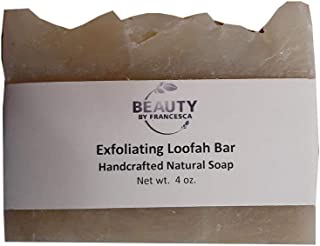 product image for Handmade Loofah Soap Bar – Exfoliating Soap with Clay, Spinach and Kelp - 100% Natural and Organic Ingredients – for Men, Women - All Skin Types 4 OZ