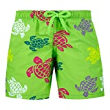 Vilebrequin Boys' Big Kids Multicolor Turtles Swimtrunk-12 yrs, Grass Green, 12