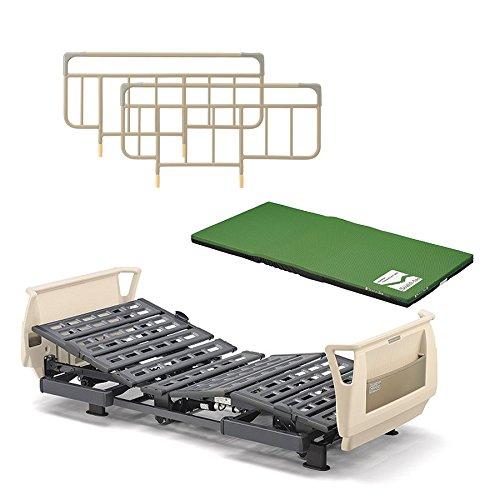 パラマウントベッド 介護ベッド Q-AURA(クオラ)3モーター KQ-63310(レギュラー) +ストレッチスリムマットレス+ベッドサイドレールのお得な3点セット B07BW5FR27