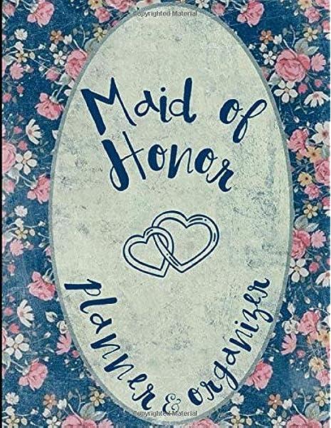 Personalised Wedding Planners Maid of Honour Bridesmaid BrideA5 lined