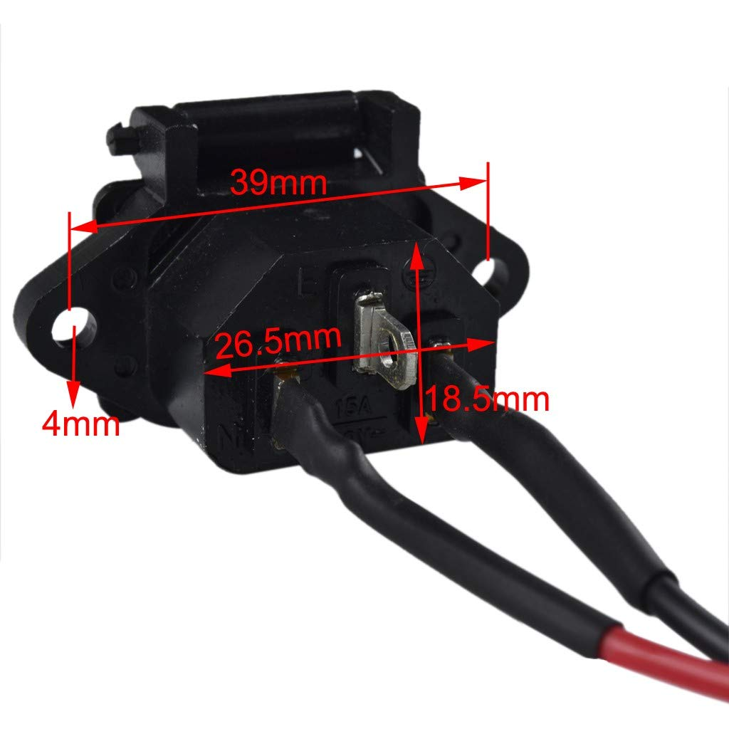 TDPRO 4x Battery Cable Wire and Charger Plug Cable for Motorcycle Go Kart Offroad ATV Dirt Bike